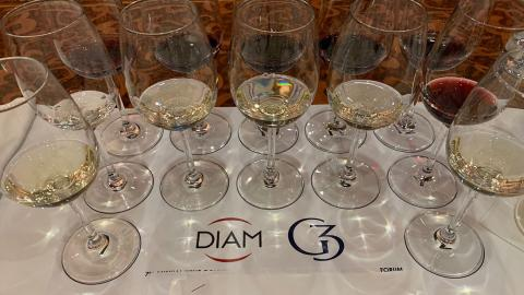 wine glasses at the diam g3 wine conversations tasting event